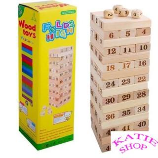 Bộ đồ chơi rút gỗ Wood Toys Folds High 48 thanh cho bé, đồ chơi trí tuệ cho các bạn trẻ BB28-RG48