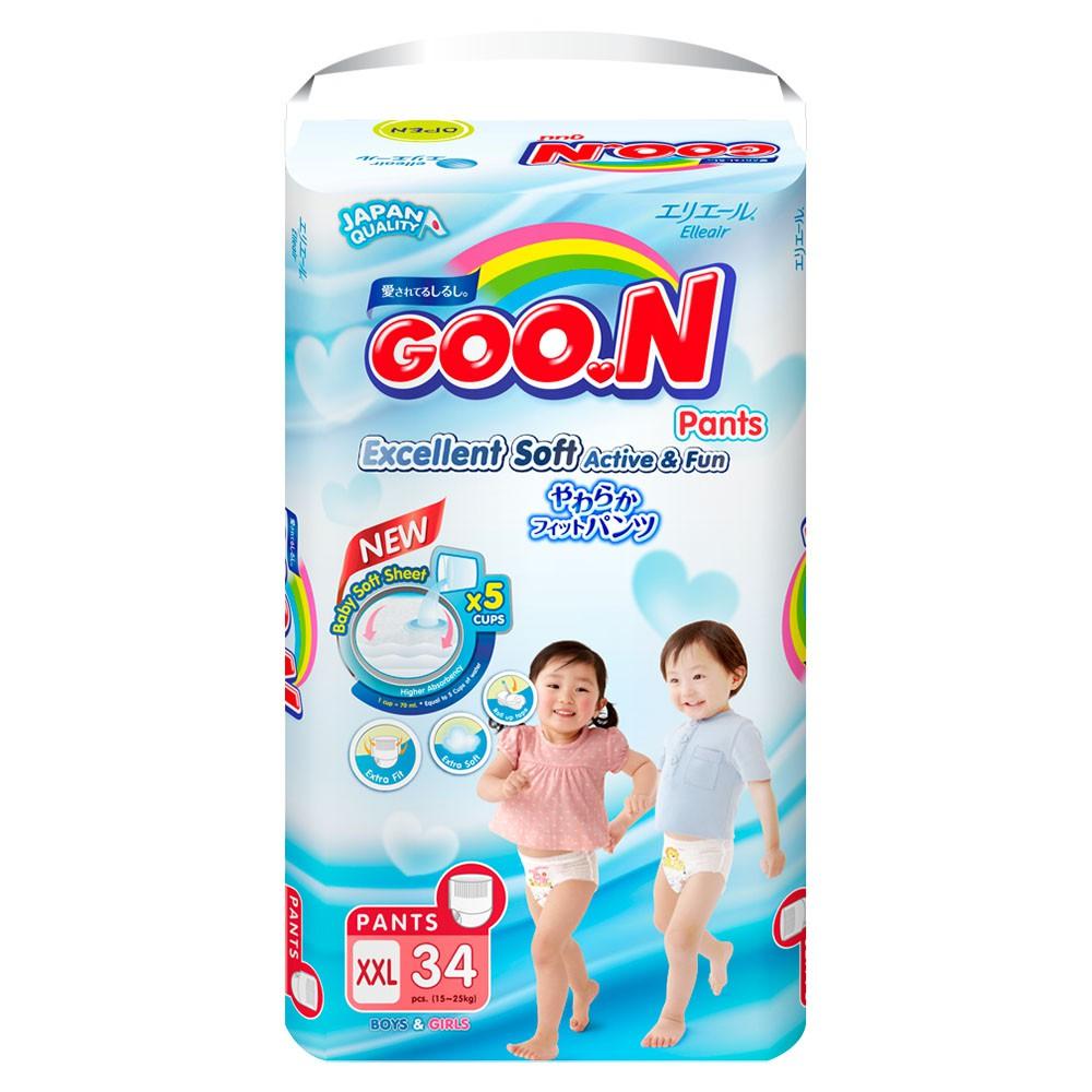 Tã quần Goon Renew Slim Size XXL 34 Miếng (Cho bé 15 đến 25Kg)