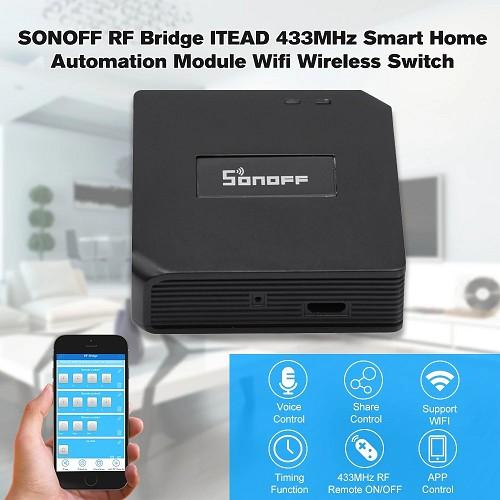 Công Tắc Thông Minh Sonoff Bridge Chuyển Đổi 433MHz RF Từ Xa Để Ứng Dụng Thông Qua Wifi
