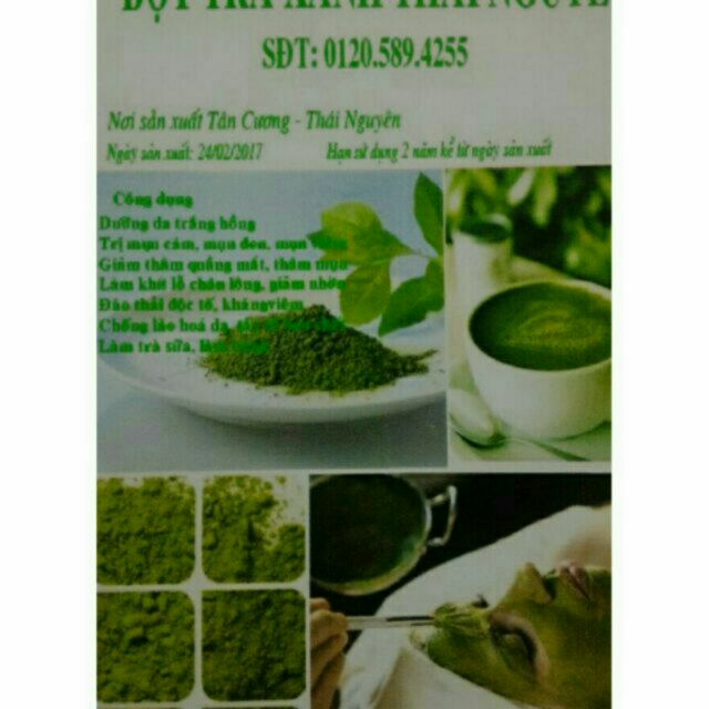 lẻ 1kg bột trà xanh Tân Cương Thái Nguyên nguyên chất làm đẹp da, trà sữa