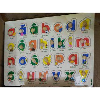 Bảng ghép chữ tiếng Việt có núm cầm