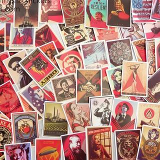 Sticker hình dán tem dán decal vintage , 68 cái POSTER OBEY ,dán xe laptop mũ bảo hiểm mọi thứ … ,LUÔN CÓ QÙA TẶNG KÈM