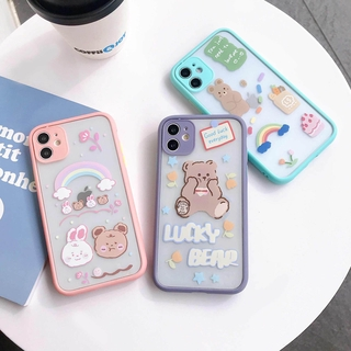 Cartoon Bear IPhone11 Pro 7/8plus X/XS XR XSMAX Apple Couple Anti-fall Mobile Phone Shell Soft Shell