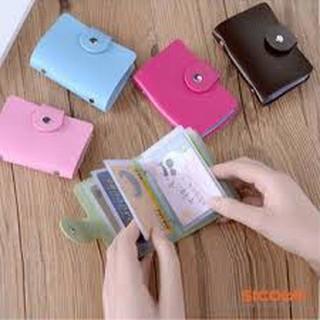 Ví đựng thẻ ATM, thẻ xe buýt cầm tay 12 ngăn có cúc bấm