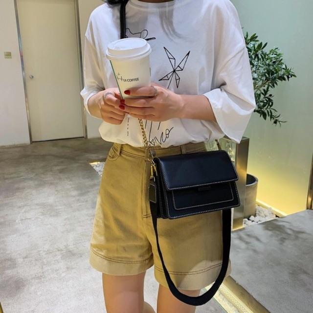 Túi Xách Nữ Mini🔥FREESHIP🔥Túi Đeo Chéo Nữ Vintage Phối Màu Phong Cách Hàn Quốc HH118