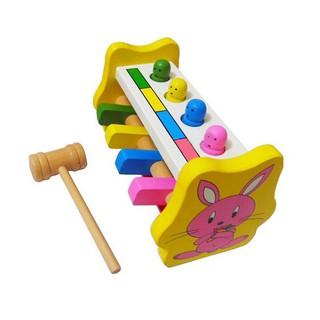 Bộ đập thỏ âm nhạc gỗ đồ chơi giao dục, đồ chơi gỗ