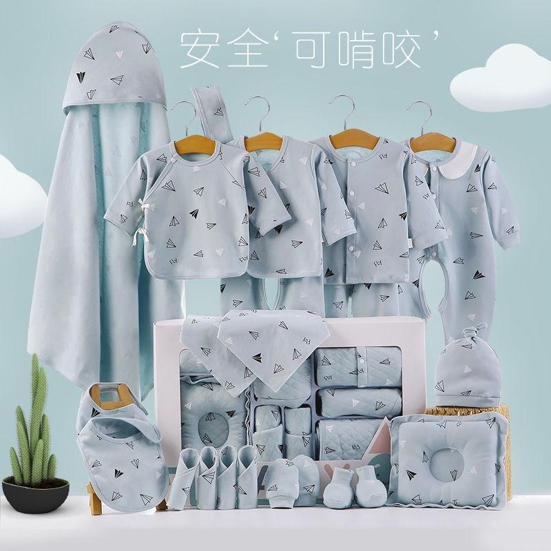 Hộp Quà Tặng Quần Áo Vải Cotton Mỏng Thời Trang Mùa Hè Cho Bé Sơ Sinh 0-3 Tháng Tuổi