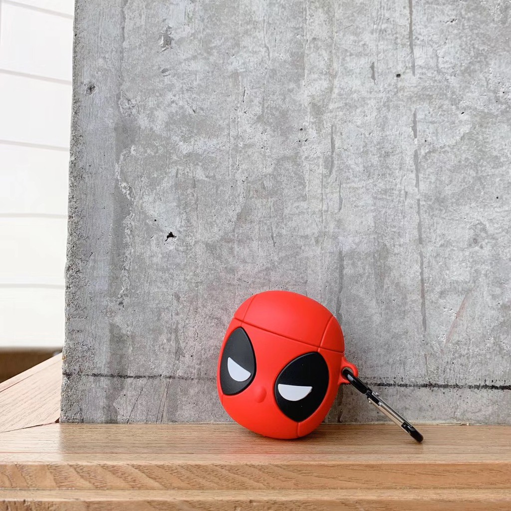 Red Black eyed spiderman funny new airpods case airpod 1 and airpod 2 Apple AirPod Silicone cover Cool