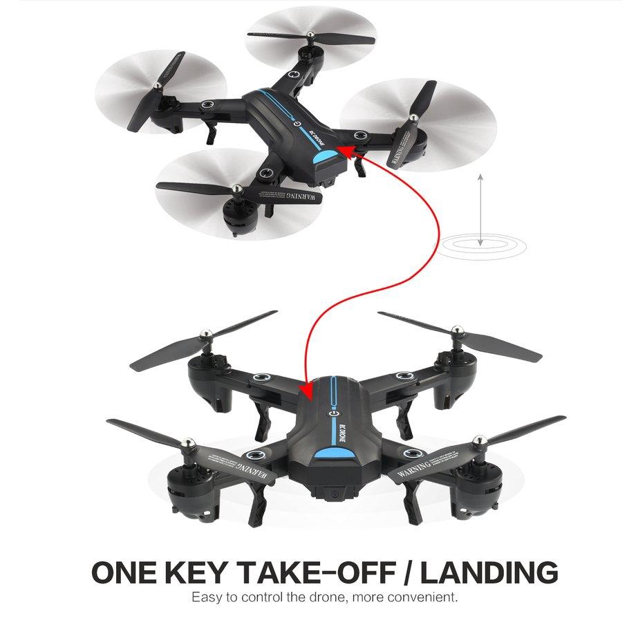 A6W WiFi FPV Camera Altitude Hold Headless Mode Foldable RC Drone Quadcopter