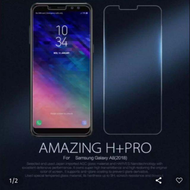 Kính cường lực Galaxy A8 2018 hiệu Nillkin H+ Pro xịn chính hãng