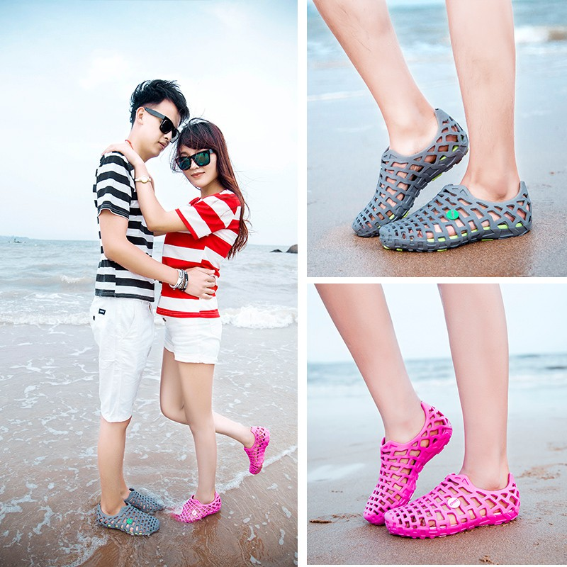 Giày Crocs Phối Lưới Thời Trang Đi Biển Cho Nam