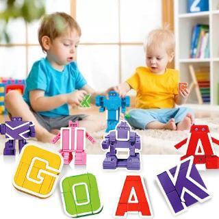 [Mã TOYJAN hoàn 20K xu đơn 50K] 26 đồ chơi biến hình chữ cái cho bé thumbnail