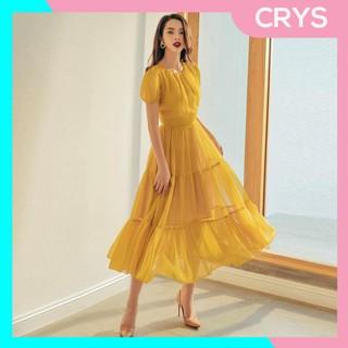 Váy xòe tầng cách điệu, váy xòe tầng nữ tính – V1877 – Crys