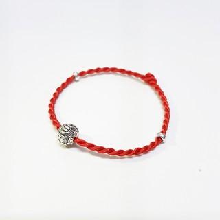 Vòng tay chỉ đỏ Laliz mix bạc 925 may mắn lắc tay dây lụa xoắn xinh xắn LAT.212 thumbnail