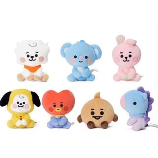 (Sẵn Tata, Cooky, Chimmy, Rj) Baby sitting doll gấu bông bt21 (20cm) chính hãng