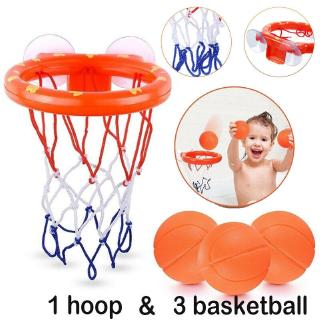 Kids Bath Basketball Hoop Ball Bathtub Shooting Shower Water Play Game Pool Toys