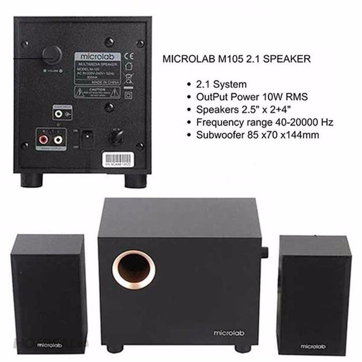 Loa Microlab M105 Chính Hãng Bảo Hành 12 Tháng