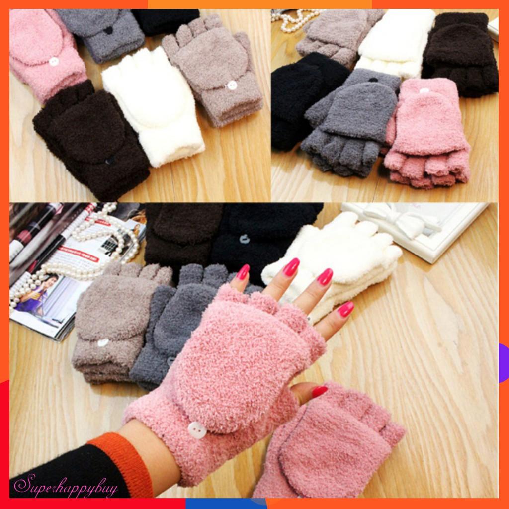 Găng tay len giữ ấm mùa đông thời trang dành cho nữ