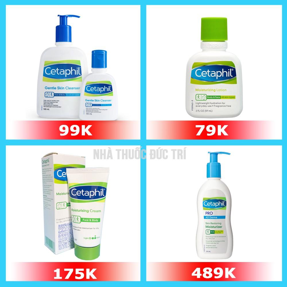 [NHẬP KHẨU] Sữa rửa mặt không xà phòng Cetaphil Gentle Skin Cleanser - 59ml/ 125ml/ 250ml/ 500ml