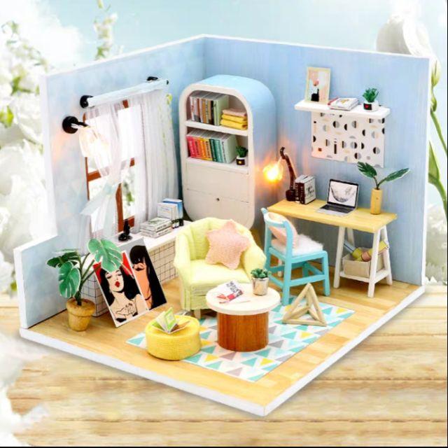 Kèm Mica – Mô hình nhà gỗ búp bê Dollhouse DIY – S903 Ding Dong Nest