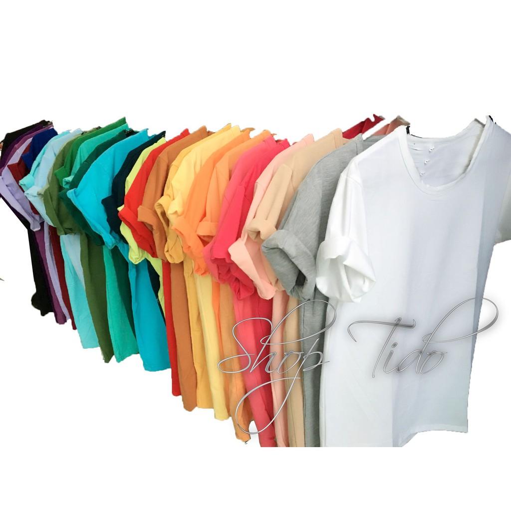 Áo thun trơn đủ màu vải đẹp áo phông trơn ngẫu nhiên