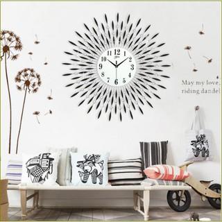 Đồng hồ treo tường hoa pha lê đen-Quà tặng Mừng Tân Gia.