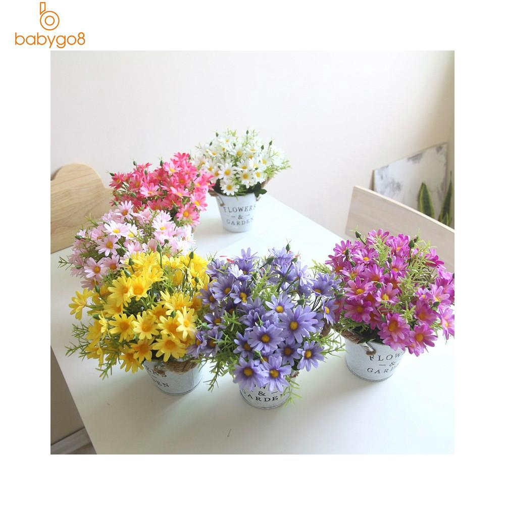 Artificial Daisy Flowers Potted Daisy Arrangements Home Office Decoration