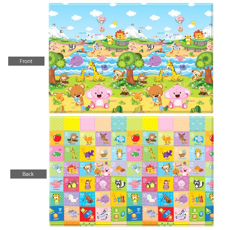 Thảm chơi Hàn Quốc Baby Care silicon 1,25m*1,85m*11mm (mẫu Thế giới động vật)