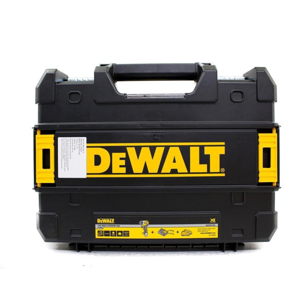 Combo Máy vặn vít cầm tay Dewalt DCF601D2-KR 12V/BL và Mũi vặn vít Stanley 68-075-23 bộ 36P