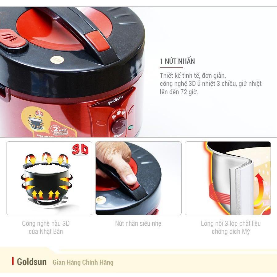 Nồi cơm điện 3D goldsun 1,5L ARC-GW150