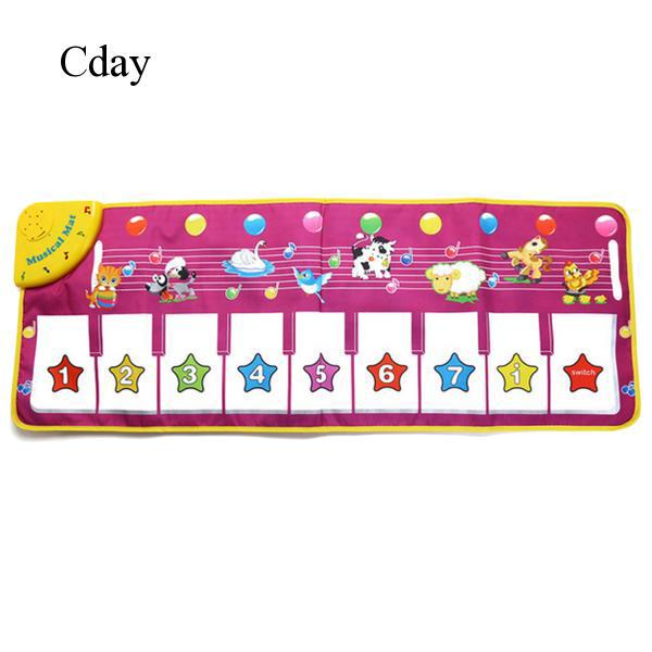 Cartoon Funny Music Musical Piano Carpet Mat Playmat Toy for Kids Baby Boys C490