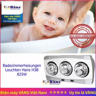 [Mã ELMS5 giảm 7% đơn 300K] Đèn sưởi nhà tắm 3 bóng trắng Han H3B