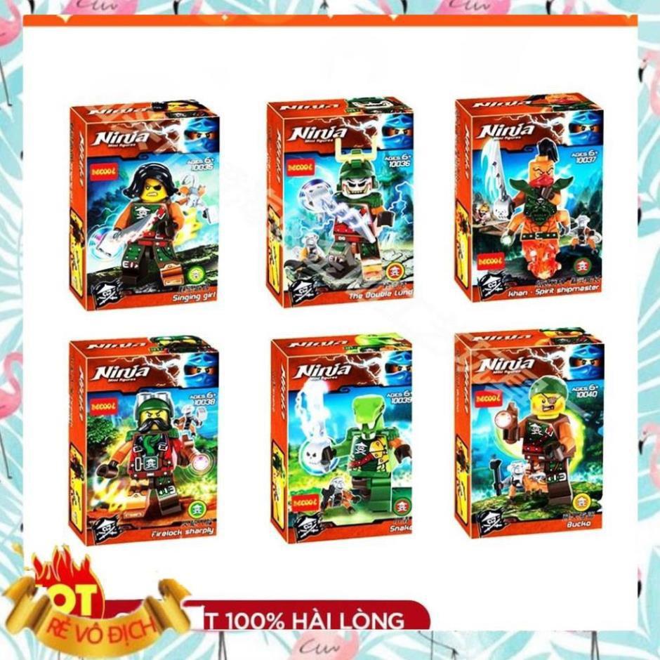 [ XẢ KHO ] [ ĐỒ CHƠI LEGO ] GIÁ RẺ GIẬT MÌNH Đồ chơi xếp hình Lego  Minifigures Ninjago DeCool 10035 -10040