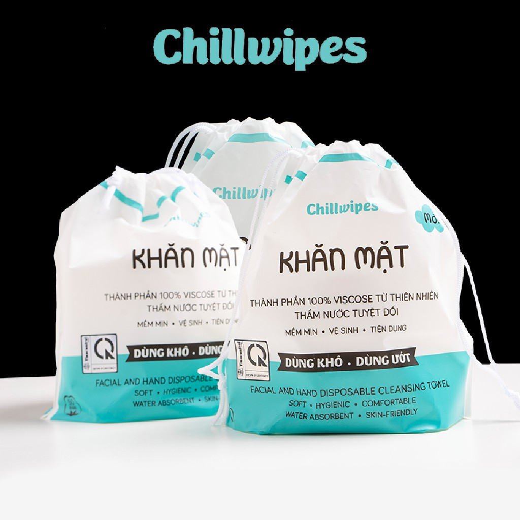 Combo 64 cuộn khăn mặt khô Chillwipes (lau khô, lau ướt) | Shopee Việt Nam