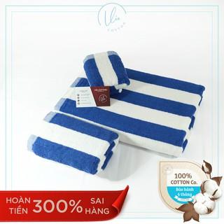 Combo 3 khăn tắm gội mặt VIECOTTON Ver2 100% cotton siêu thấm hút cam kết giao đúng màu