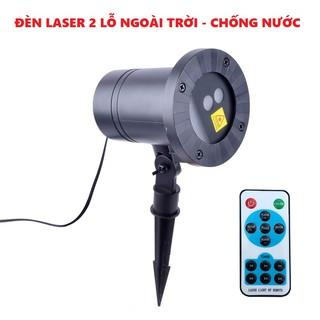 Yêu ThíchĐèn chiếu sao laser 2 lỗ chống nước dùng để trang trí NOEL TẾT - Hàng nhập khẩu