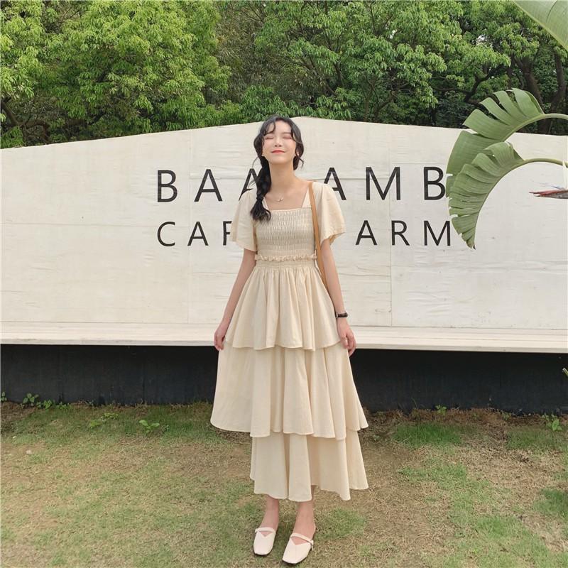 2128870726 - [Order - kèm ảnh thật] Váy đầm tiểu thư, dáng dài, váy chữ A