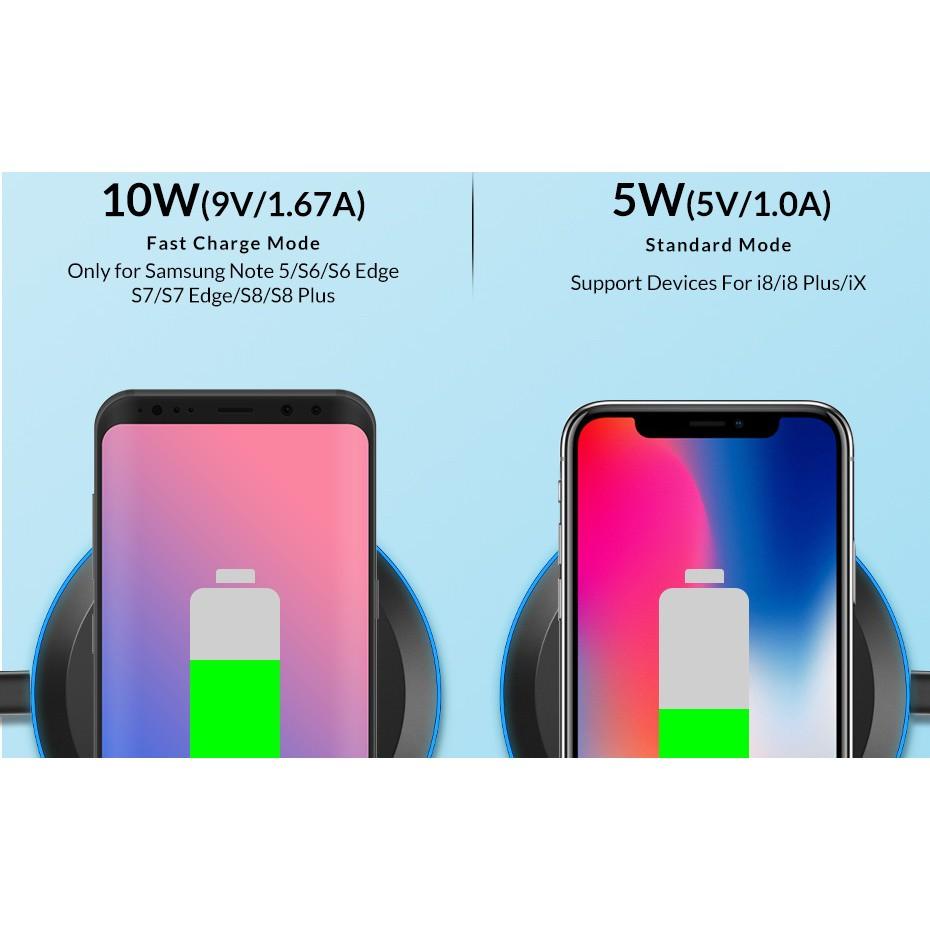 Đế Sạc Nhanh Không Dây TOPK B46W Tiện Dụng Cho IPhone X / XS Max XR 8 Plus / Samsung bảo hành chính hãng 12 tháng