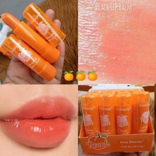 Son Dưỡng Đào Peach Kiss Beauty chính hãng nội địa sỉ son môi lâu trôi mềm mượt chính hãng nội địa thumbnail