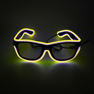 LHLED Glasses 20 Colors Optional Light Up El Wire Neon Rave Glasses Twinkle Glowing Party Club Holiday Bar Decorative