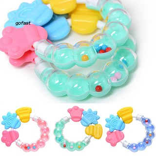 1Pc Lovely Baby Kids Infant Teether Rattles Pacifier Bell Molar Safety Tooth Care