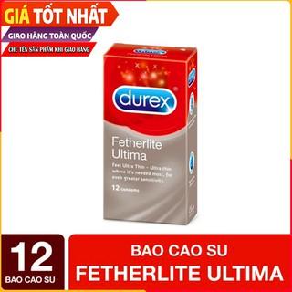 Bao Cao Su Durex Fetherlite Ultima Siêu Mỏng. Hộp 12 Cái An Toàn Cho Sức Khỏe [HÀNG CHÍNH HÃNG]