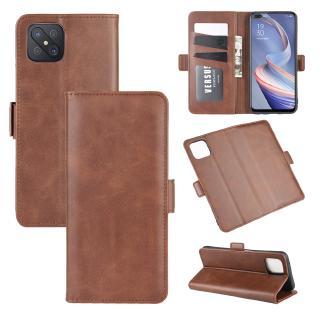 Bao da điện thoại dạng ví sang trọng 2 khóa cho OPPO A92 A72 A92S A91
