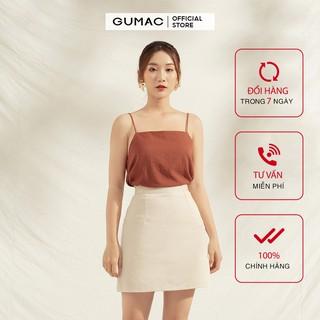 Áo 2 dây nữ cơ bản GUMAC đủ màu, đủ size thiết kế basic trẻ trung AA1181 thumbnail