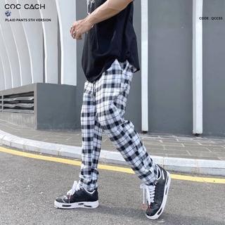 Quần vải baggy Coccach caro unisex Qccs5 thumbnail