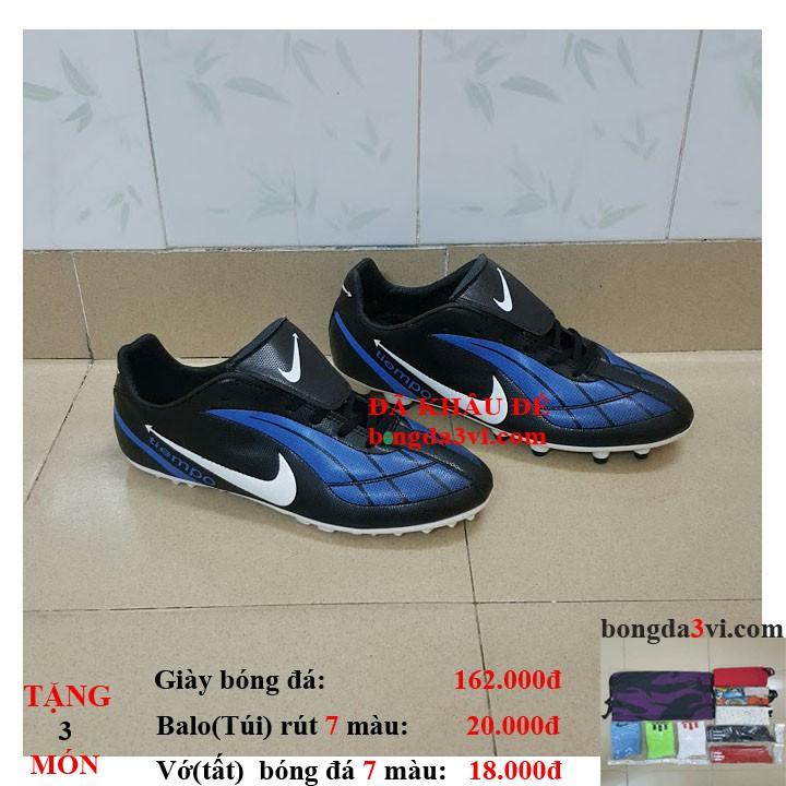 giày đá bóng , giày đá banh , giày bóng đá sân cỏ ( tặng + balo(túi) rút + vớ(tất) )