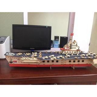 Đồ chơi lắp ráp gỗ 3D Mô hình Tàu Sân Bay