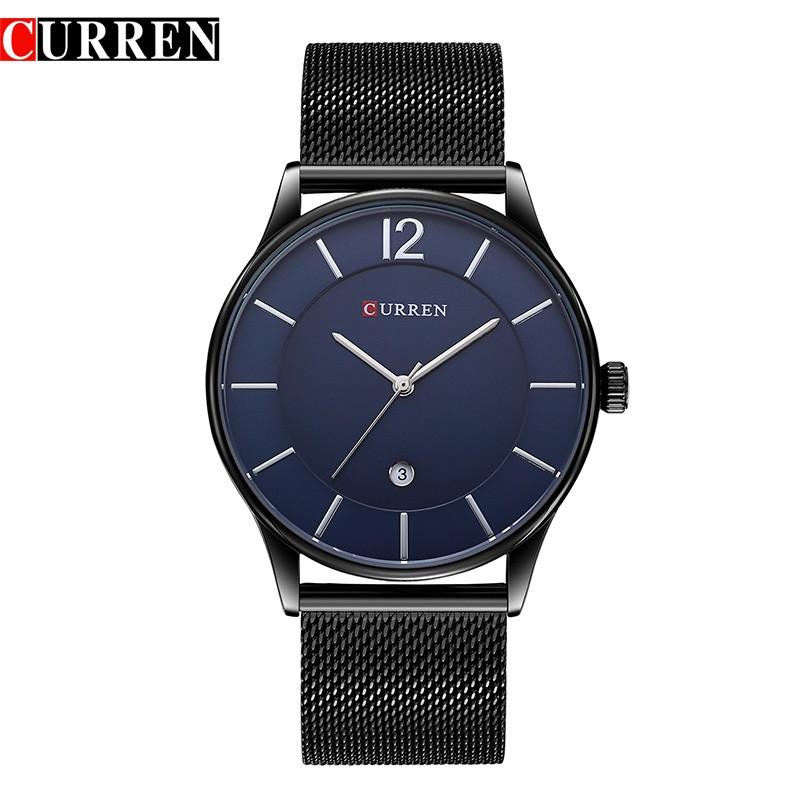 Đồng hồ nam CURREN CU8117 dây thép lụa không gỉ cao cấp