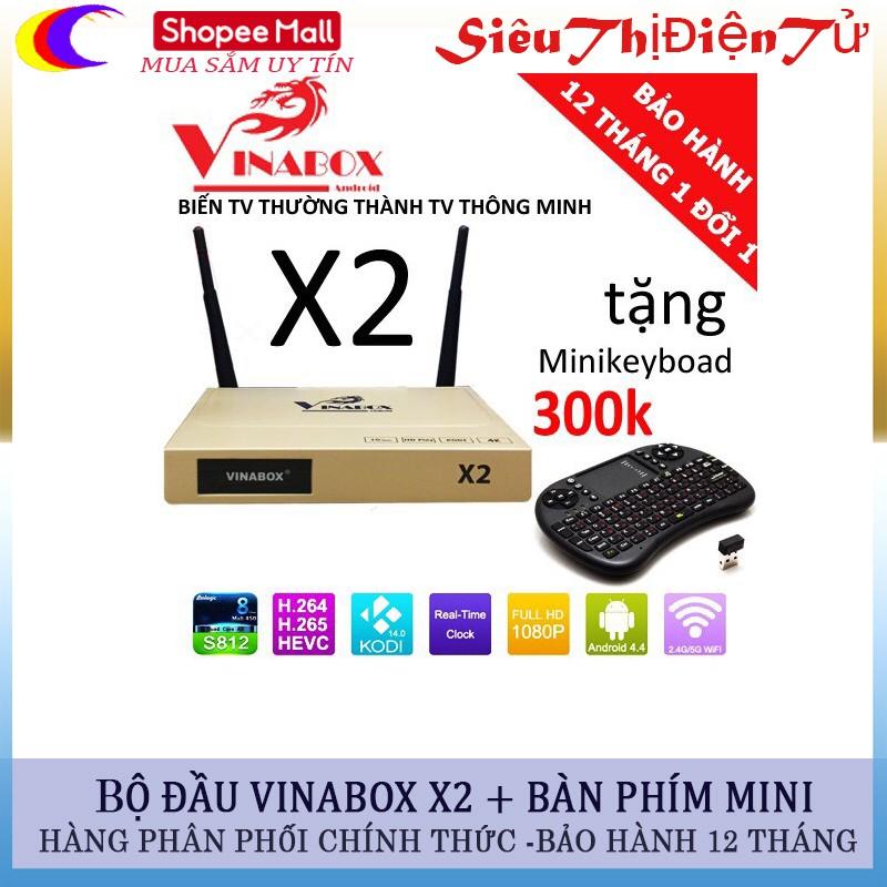 Đầu vinabox x2 tăng bàn phím mini - 2958880 , 255154819 , 322_255154819 , 759000 , Dau-vinabox-x2-tang-ban-phim-mini-322_255154819 , shopee.vn , Đầu vinabox x2 tăng bàn phím mini