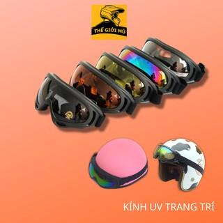 Kính uv X400 dành cho mũ bảo hiểm 1/2 và 3/4 chống bụi - gió và đi phượt